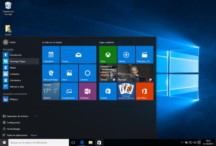 Windows 10 - Menu Inicio