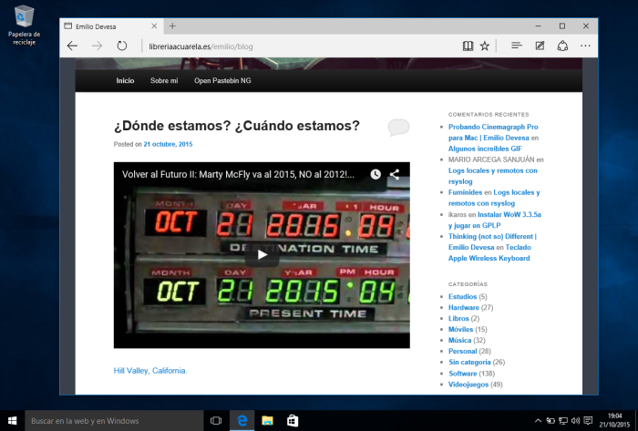 Windows 10 - Navegador