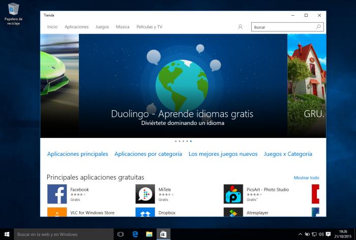 Windows 10 - Tienda